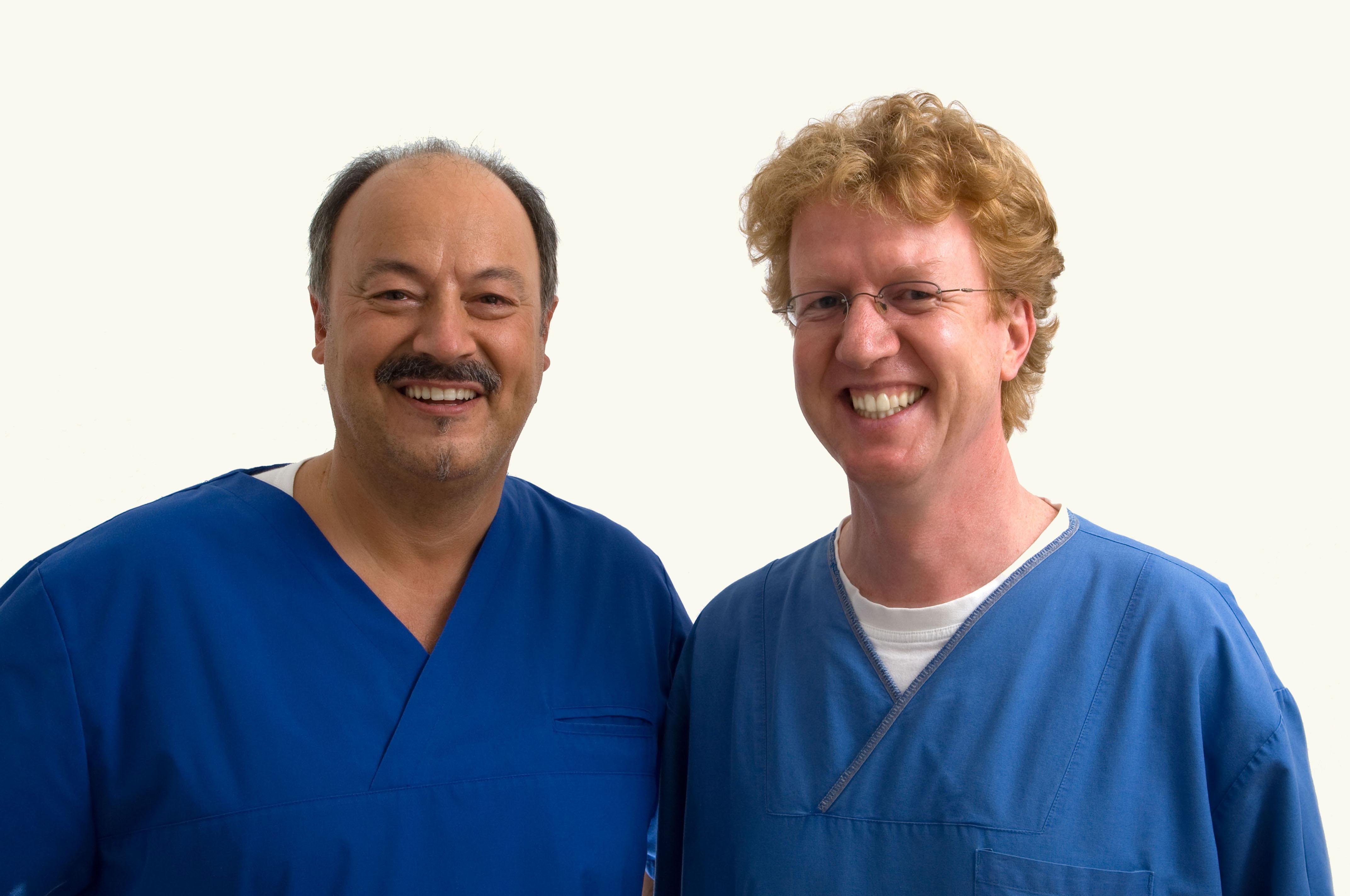 Zahnarzt Dr. Schlimbach und Anästhesist Dr. Jörg Liebing